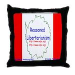 Reasoned Libertarian Revoluti Throw Pillow