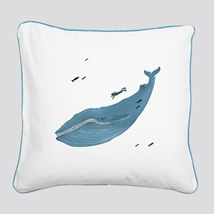 Blue Whale - Canvas Pillow