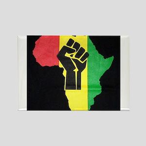 Pan Africa Rectangle Magnet