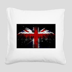 Union Jack Eagle Square Canvas Pillow