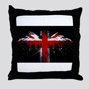 Union Jack Eagle Throw Pillow