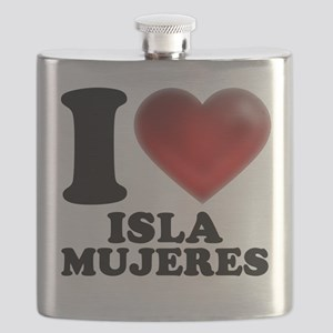 I Heart Isla Mujeres Flask