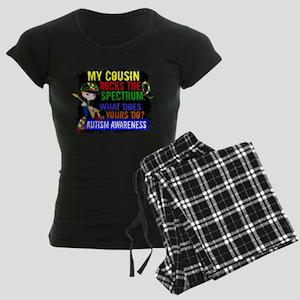 Rocks Spectrum Autism Women's Dark Pajamas