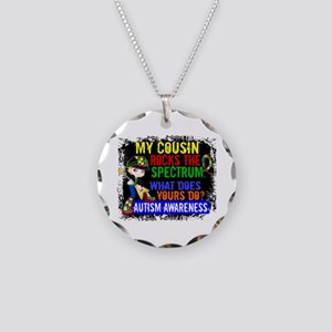 Rocks Spectrum Autism Necklace Circle Charm