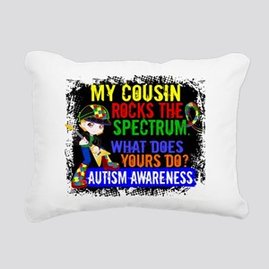 Rocks Spectrum Autism Rectangular Canvas Pillow