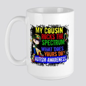 Rocks Spectrum Autism Large Mug