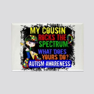 Rocks Spectrum Autism Rectangle Magnet