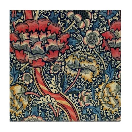 Wandle Design wandle design by william morris tile coaster by fineartdesigns
