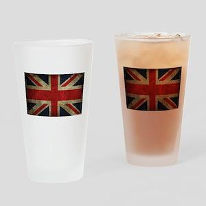 Vintage Union Jack Drinking Glass