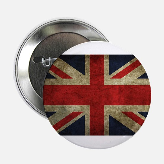 "Vintage Union Jack 2.25"" Button"