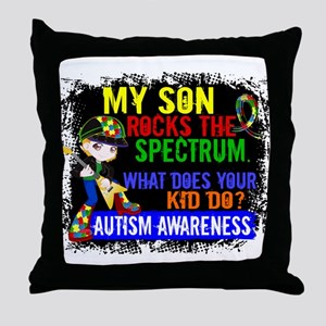 Rocks Spectrum Autism Throw Pillow