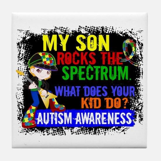 Rocks Spectrum Autism Tile Coaster