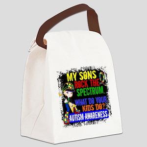 Rock Spectrum Autism Canvas Lunch Bag