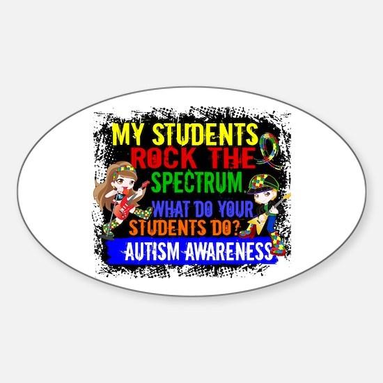 Rock Spectrum Autism Sticker (Oval)