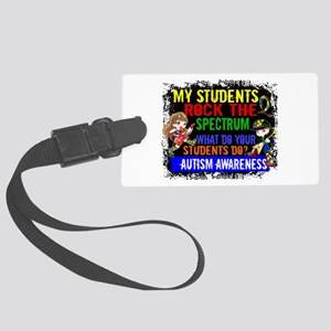 Rock Spectrum Autism Large Luggage Tag