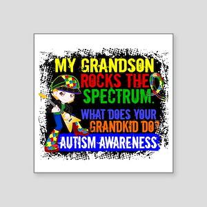 "Rocks Spectrum Autism Square Sticker 3"" x 3"""