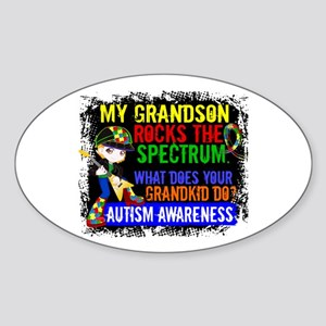 Rocks Spectrum Autism Sticker (Oval)