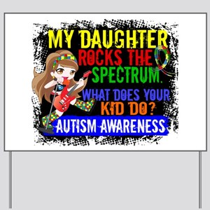 Rocks Spectrum Autism Yard Sign