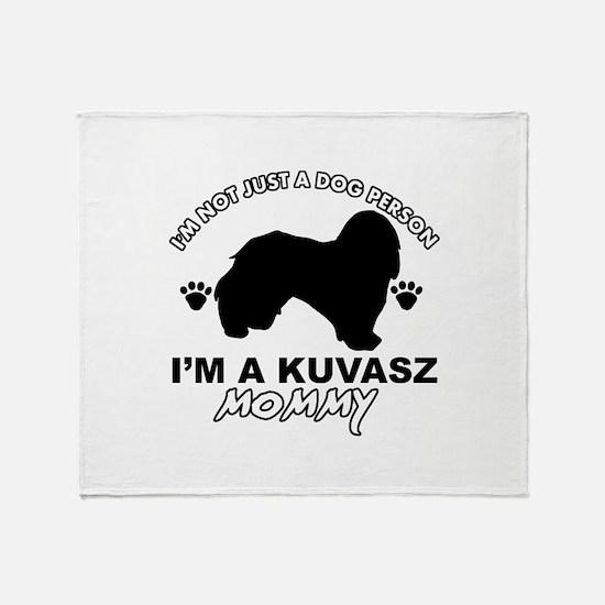 Kuvasz dog breed design Throw Blanket