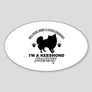 Keeshond dog breed designs Sticker (Oval)