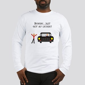 CAUTION NEW LICENSE Long Sleeve T-Shirt