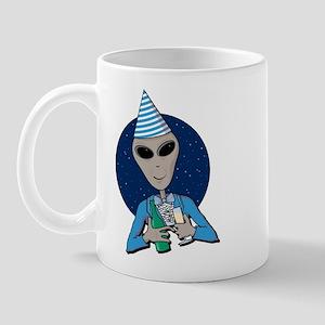 Alien New Year Right-handed Mug
