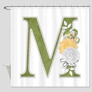 Monogram Letter M Shower Curtain