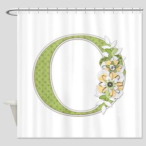 Monogram Letter O Shower Curtain