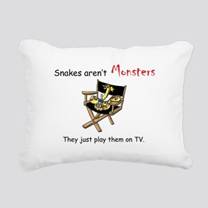 Movie Monsters Rectangular Canvas Pillow