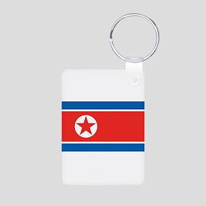 North Korea Aluminum Photo Keychain