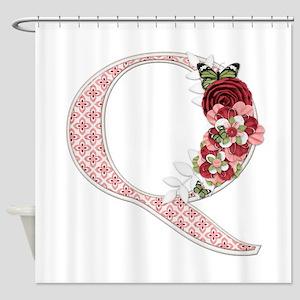 Monogram Letter Q Shower Curtain