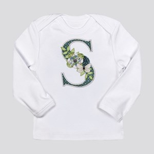 Monogram Letter S Long Sleeve T-Shirt