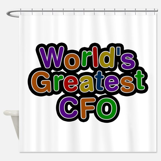 World's Greatest CFO Shower Curtain