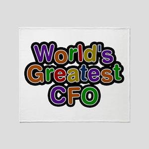 World's Greatest CFO Throw Blanket