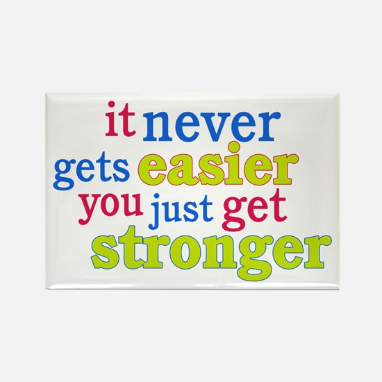 It Never Gets Easier, You Just Get Stronger Rectan