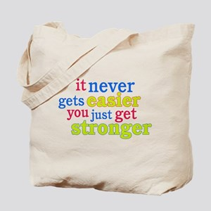 It Never Gets Easier, You Just Get Stronger Tote B