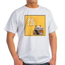 Japanese Fortune Cats - Ash Grey T-Shirt - Prosp