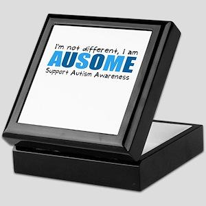 Im not different, I am Ausome! Keepsake Box