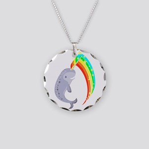 Magical Narwhal Circle Necklace