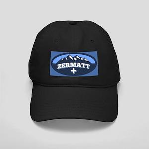 Zermatt Logo Blue Black Cap