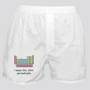 I Wear This Shirt Periodically Boxer Shorts
