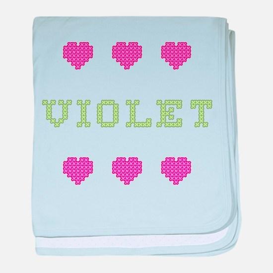 Violet baby blanket