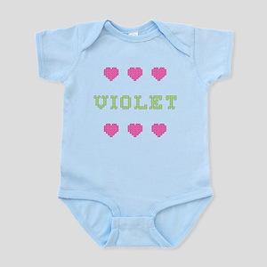 Violet Body Suit