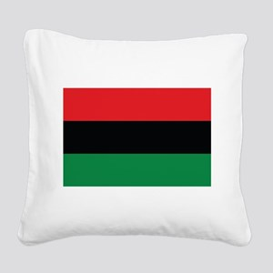 The Red, Black and Green Flag Square Canvas Pillow