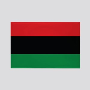 The Red, Black and Green Flag Rectangle Magnet