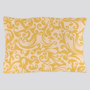 Mimosa & Linen Swirls Pillow Case