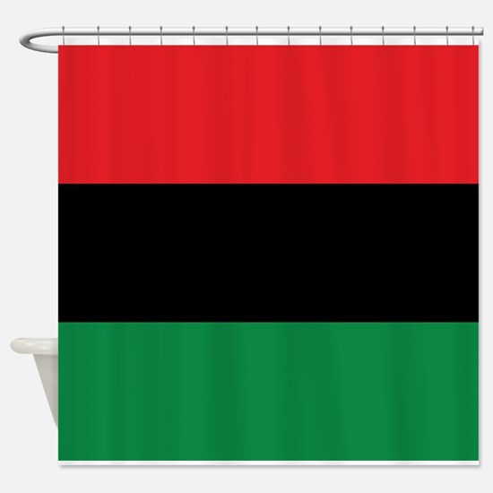 The Red, Black and Green Flag Shower Curtain