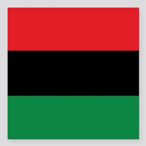 The Red, Black and Green Flag Square Car Magnet 3""
