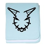 Wicked Kitty baby blanket