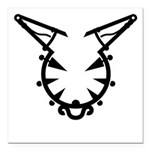 Wicked Kitty Square Car Magnet 3